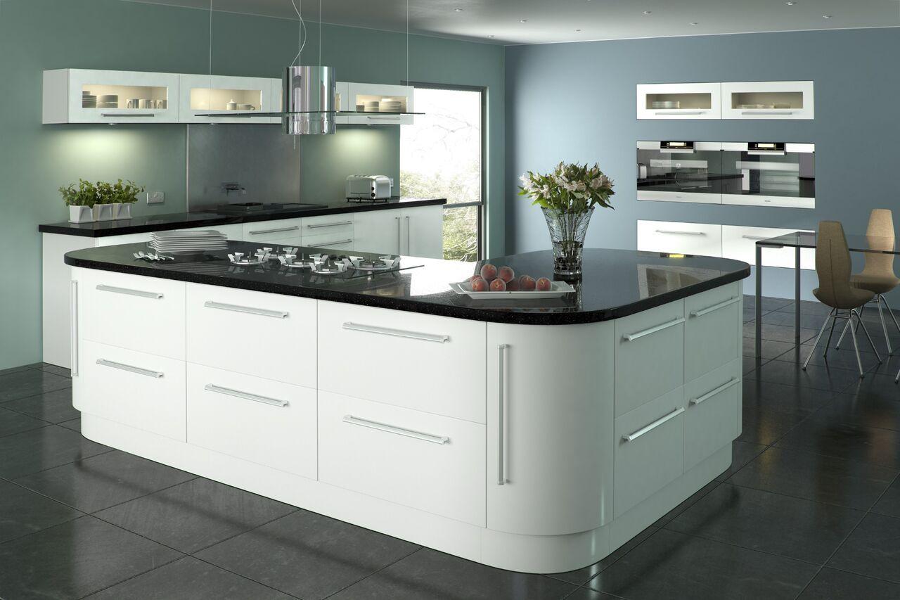 Lumi White Gloss Terence Ball Kitchens